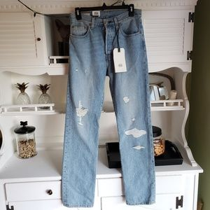 Levi's 501 High Rise Straight Button Fly Jeans NWT